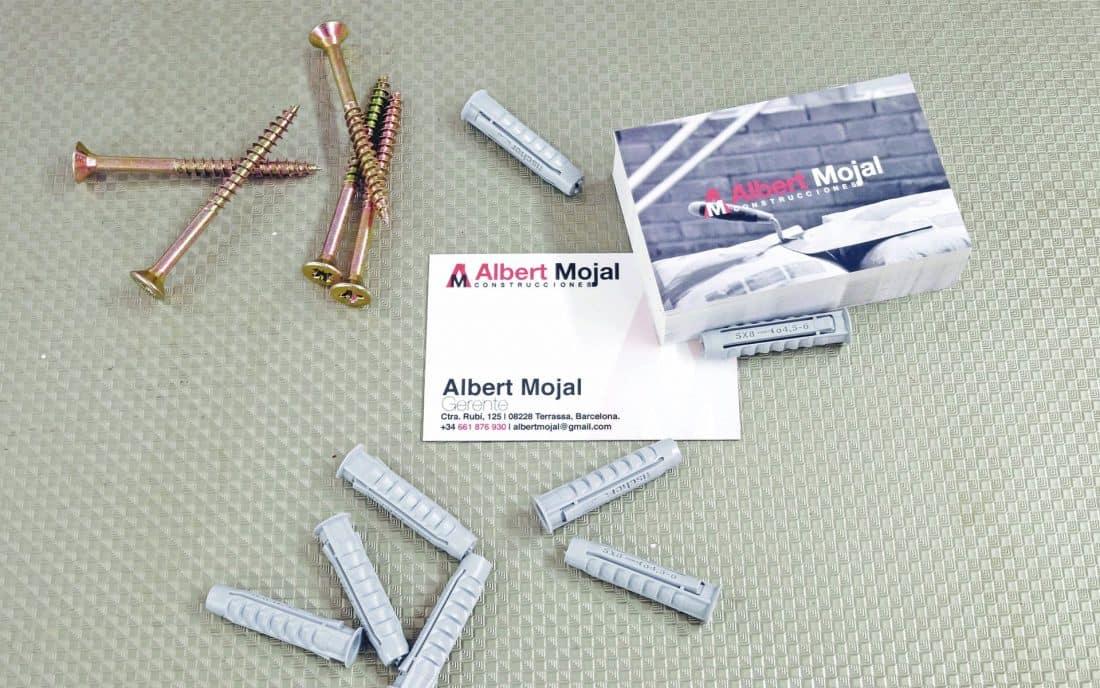 Albert Mojal Construcciones Branding tarjetas de visita