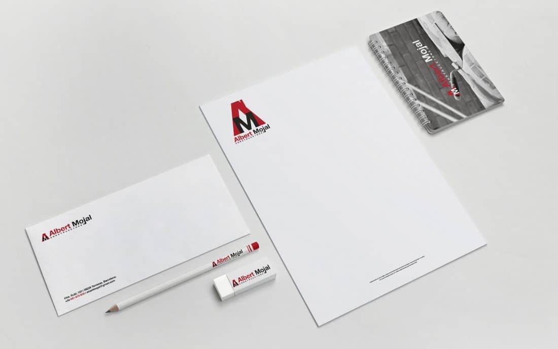 Albert Mojal Construcciones Branding Papelería Corporativa