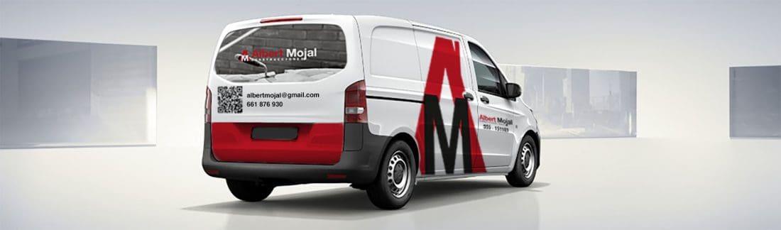Albert Mojal Construcciones Branding Rotulación de furgoneta