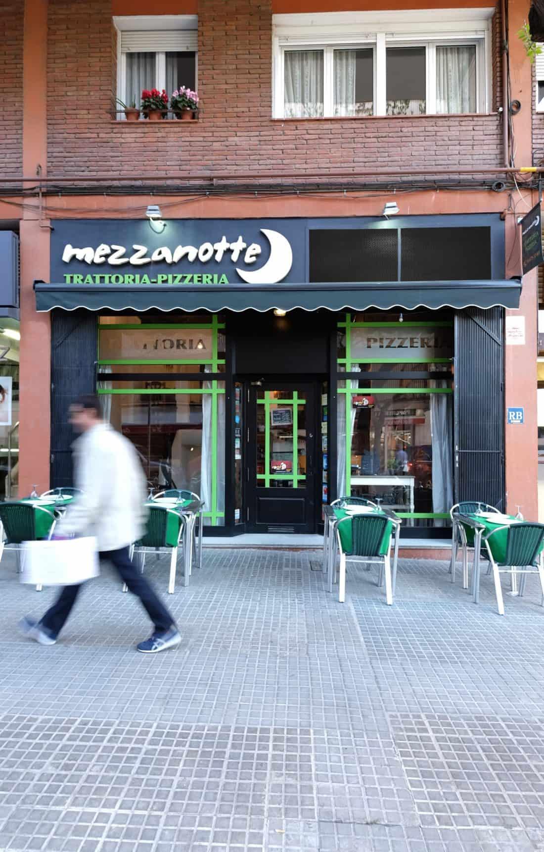 Mezzanotte Reforma Restaurante Diseño de interiores fachada