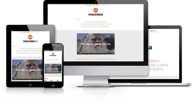 webs a medida - diseño responsive para todos los dispositivos como Ordenadores, Smartphones y tablets.